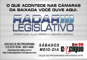 Programa Radar Legislativo - Arte: Allan Nóbrega