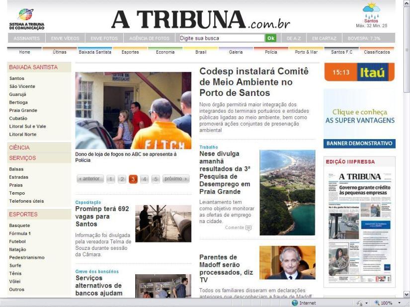 Novo site de A Tribuna